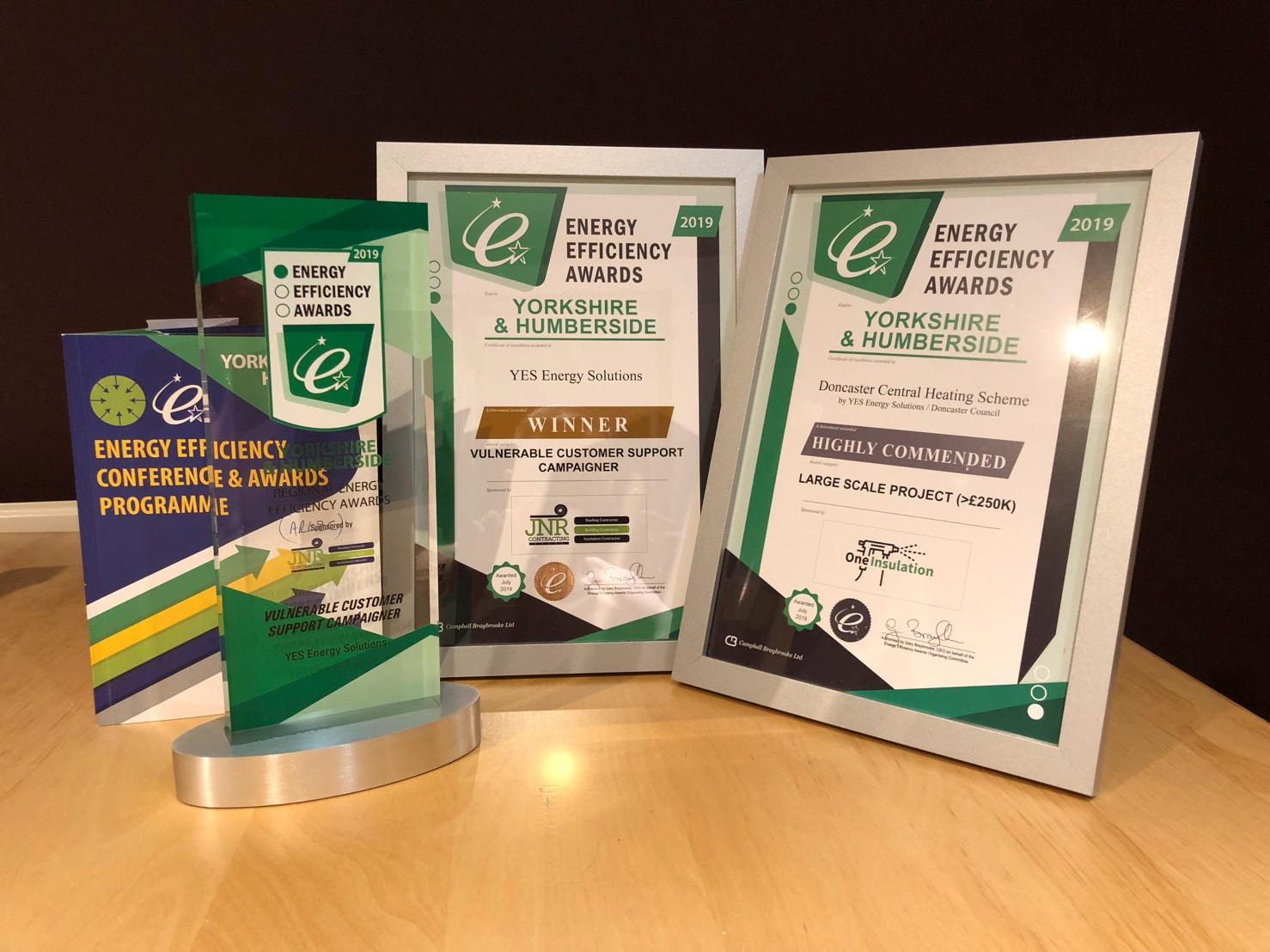 YES Energy Solutions win at the Yorkshire Energy Efficiency Awards in Sheffield
