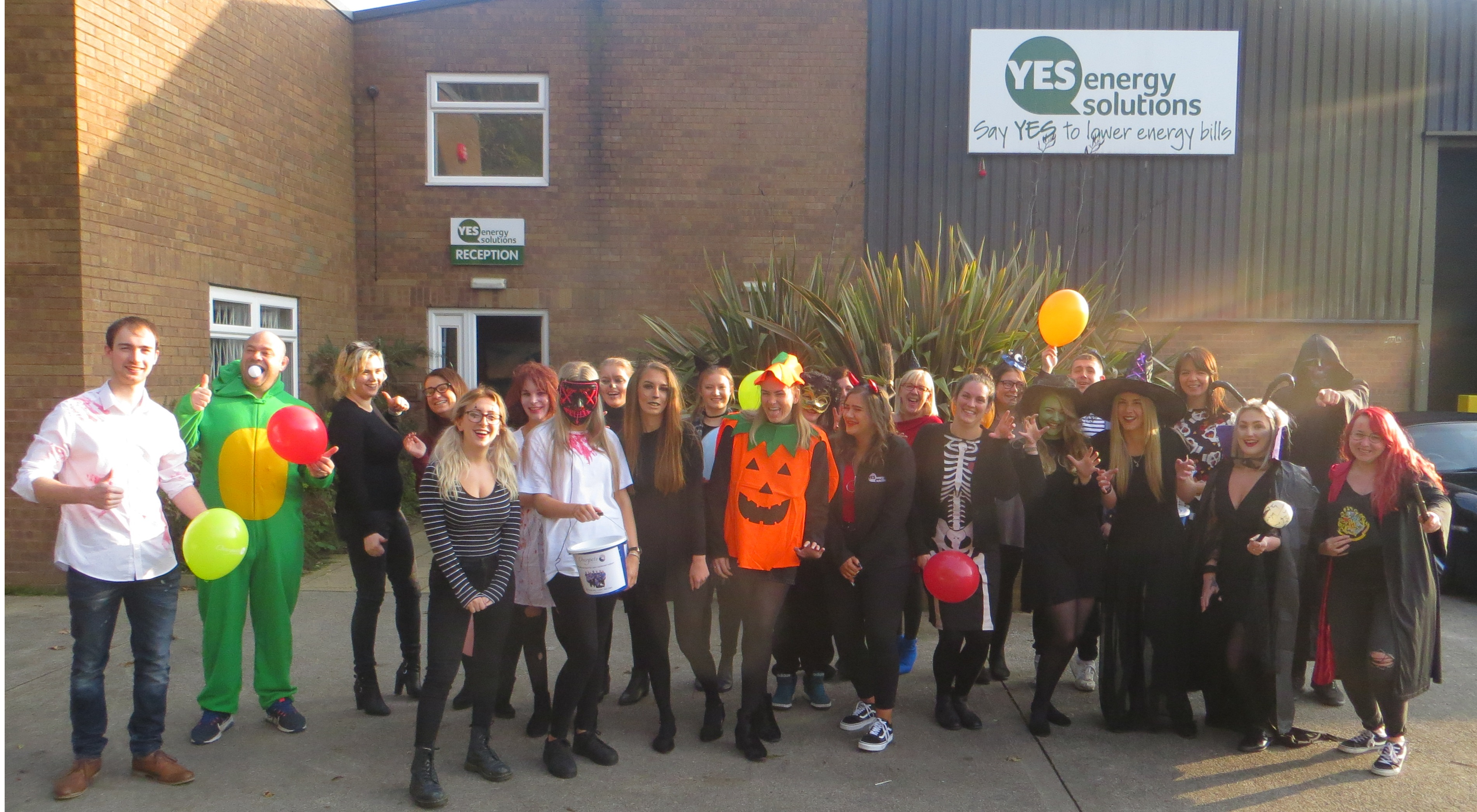 YES Energy Solutions' staff celebrate Halloween to support Overgate Hospice