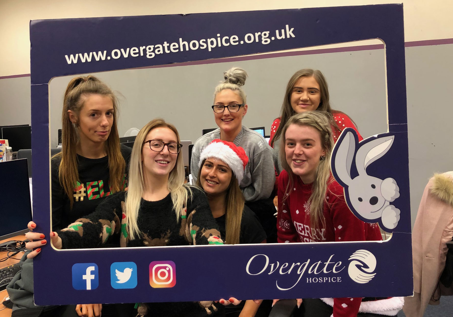 Christmas arrives as staff raise money for Overgate Hospice on Christmas Jumper Day