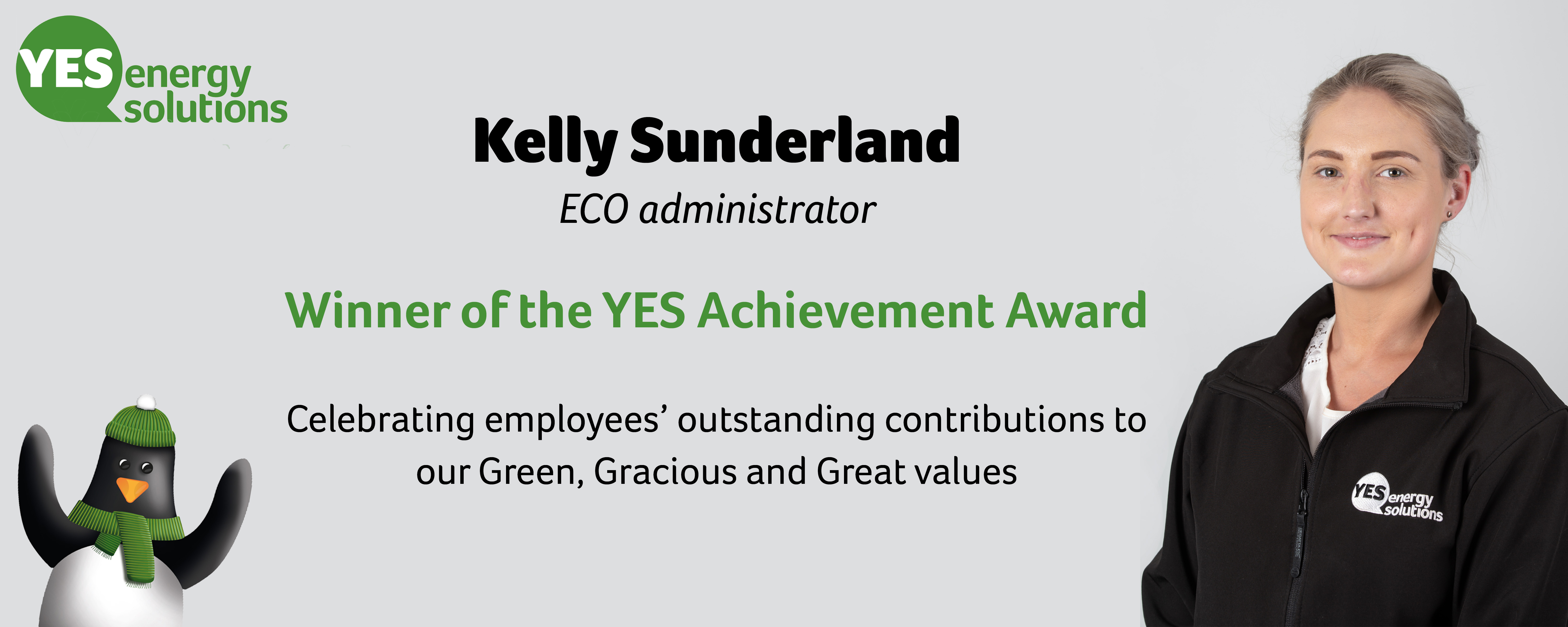 Kelly Sunderland wins the innaugral YES Achievement Award
