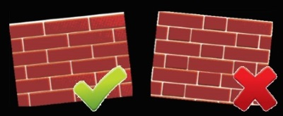 Cavity brick patten