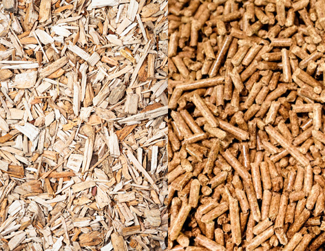Which is better for a biomass boiler: wood chips vs wood pellets?
